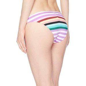 Bikini Lab Women Striped Hipster Bikini Bottom XL